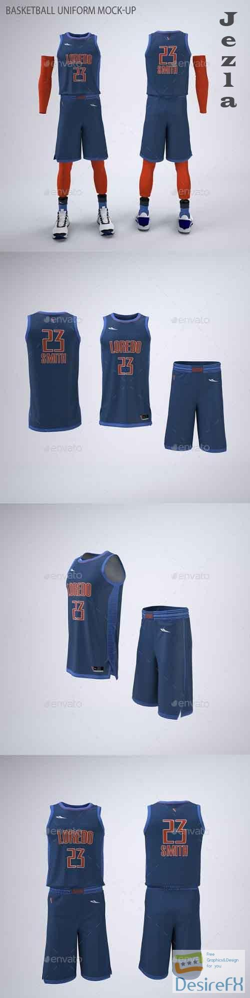 Download Download Basketball Jersey And Shorts Uniform Mock Up 21586628 Desirefx Com Basketball Jersey Basketball Kit Team Jersey