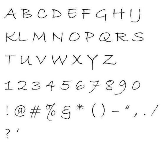 Bradley Hand-81 Cross Stitch Font (Extra Large | Crosses, Fonts ...