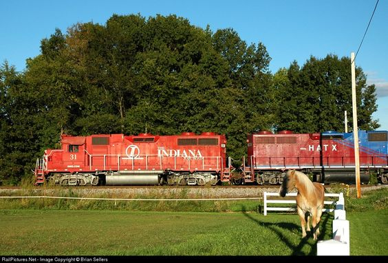 RailPictures.Net Photo: INRD 31 Indiana Rail Road EMD GP38AC at Midland, Indiana by Brian Sellers