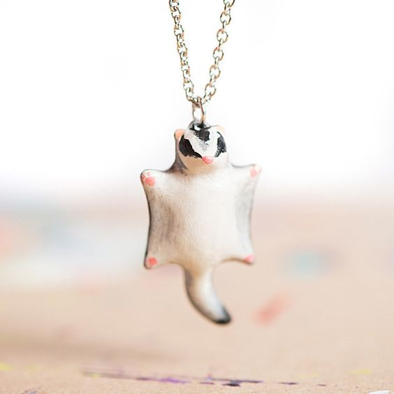 sugar glider necklace! from le animalé
