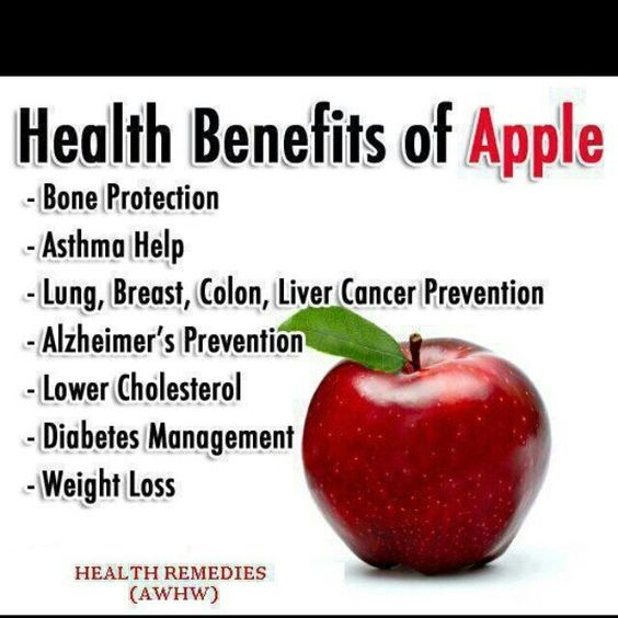 Apple a day, keeps the doctor away.