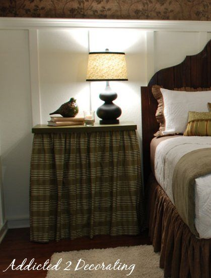 Bedside Tables Tables And Table Skirts On Pinterest