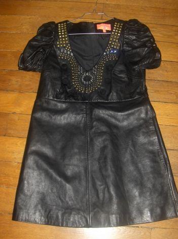 superbe robe manoush cuir d'agneau / Noir / 40 (L, T3) FR / Cuir / Toutes saisons