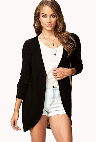 Draped Tiger Face Cardigan | FOREVER21 - 2037762089 I need this now!!