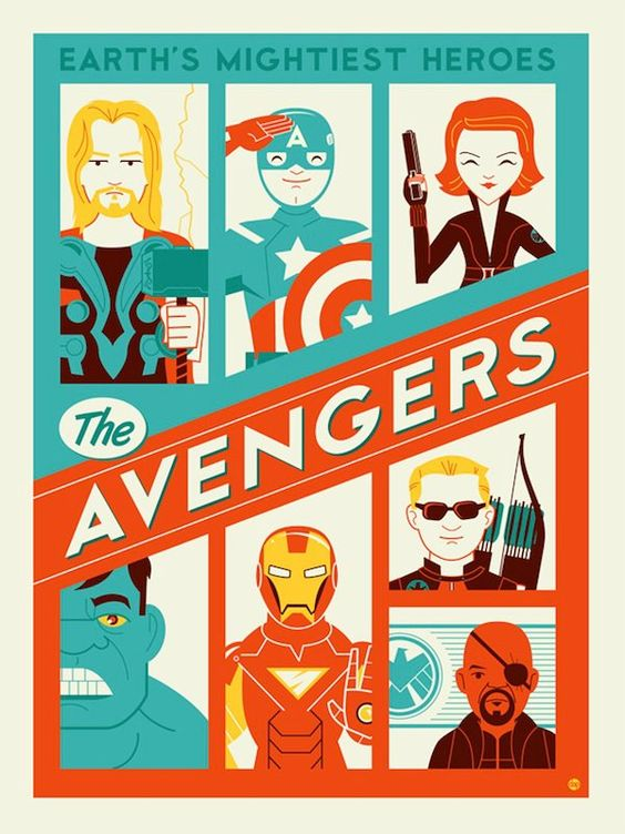 loving this alternate avengers poster by dave perillo