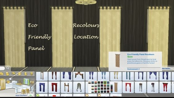 Curtain 25 Eco Friendly Panel Recolours by Simmiller at Mod The Sims • Sims 4 Updates
