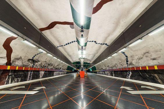 Huvudsta, Stockholm Subway by David  Bertho on 500px