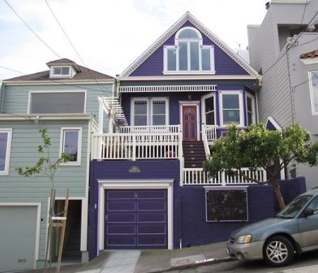 Purple and white exterior colour scheme what a funky house paintright colac house exterior - Purple exterior paint image ...