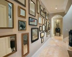 Decorating a Narrow Long Hall | Miami-Hall eclectic hall
