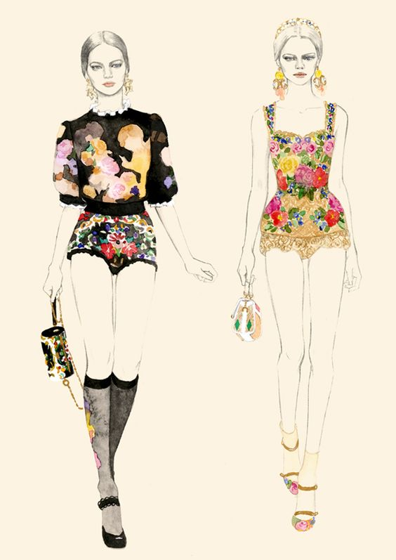 Dolce & Gabbana Fall 2012 by Teri Chung