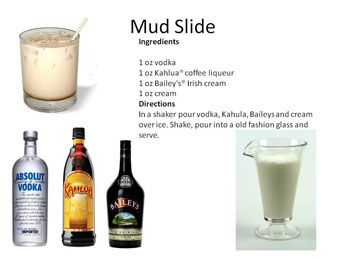 "Dessert Cocktails   Midnight Mixologist ""mud slide"""