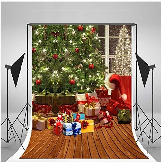 5x7ft Kate Christmas Tree Photography Backdrops Brown Wood Floor Backdrop No Wrinkles for Children Christmas Background