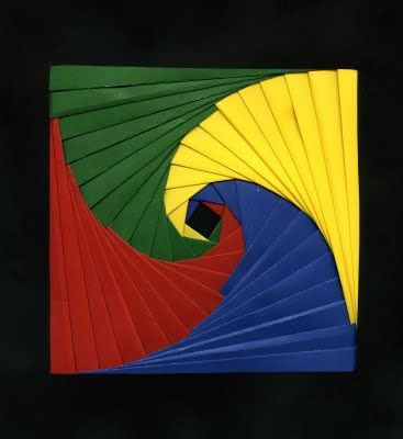 Iris folding irises and art projects on pinterest for Paper folding art projects