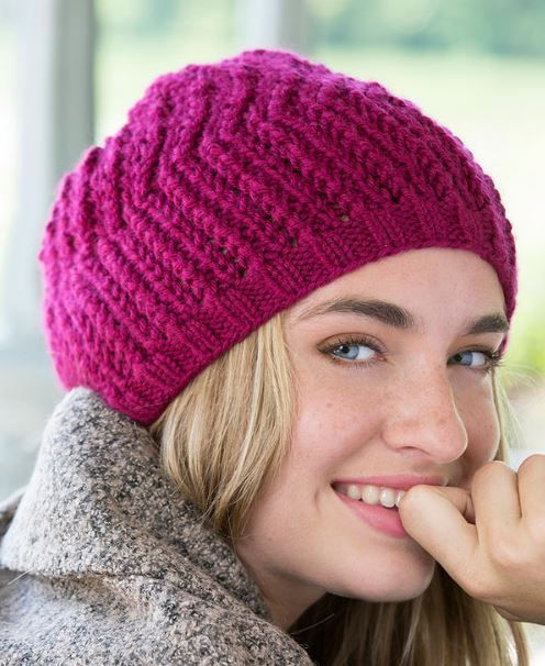 Faux Brioche Beret This Easy Rib Knit Beret Actually Has The Look