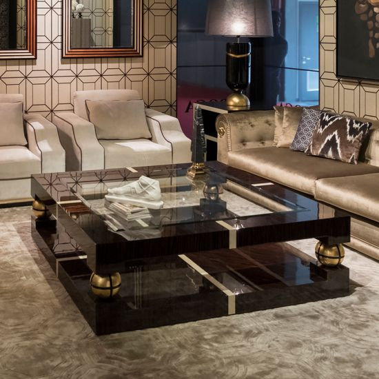 Luxury Ebony And Gold Square Coffee Table In 2019