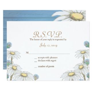 Whimsical Wood Daisies Response Cards