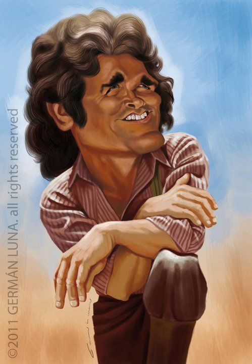 Michael Landon (by German Luna)  Used to love Little House on the Prairie when I was growing up.  RIP  ~ Ʀεƥɪииεð вƴ╭•⊰✿ © Ʀσxʌиʌ Ƭʌиʌ ✿⊱•╮: