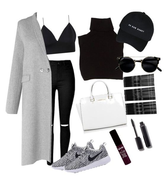 """""""chic ❤"""" by alexshmallexx on Polyvore featuring L.K.Bennett, Marc Jacobs, Michael Kors, Monki, Chanel and NYX"""