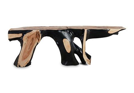 Burnt Chamcha Wood Console Table