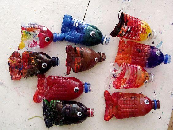 Afbeeldingsresultaat voor vissen van lege flessen