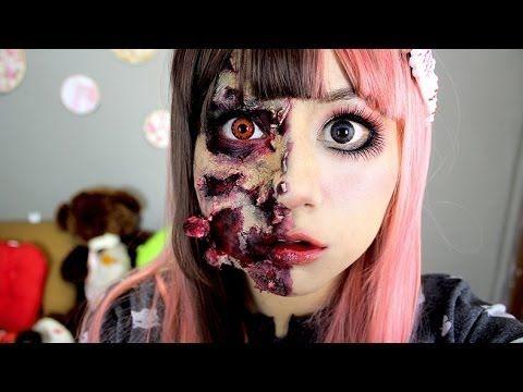 Maquillaje Anime, Maquillaje De Zombie, Su Maquillaje, Videos De Maquillaje, Maquillaje Original, De Esos, Halloween Muñeca, Muñeca Zombie, Muñeca De