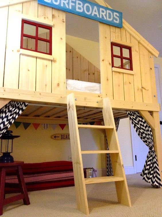 What an awesome bed!!! Ana White | Build a Clubhouse Bed | Free and Easy DIY Project and Furniture Plans.