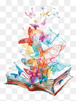 Book Open The Book Butterfly Watercolor Png Material Png Picture Png Picture Material Png Vector M Butterfly Watercolor Butterflies Vector Butterfly Background