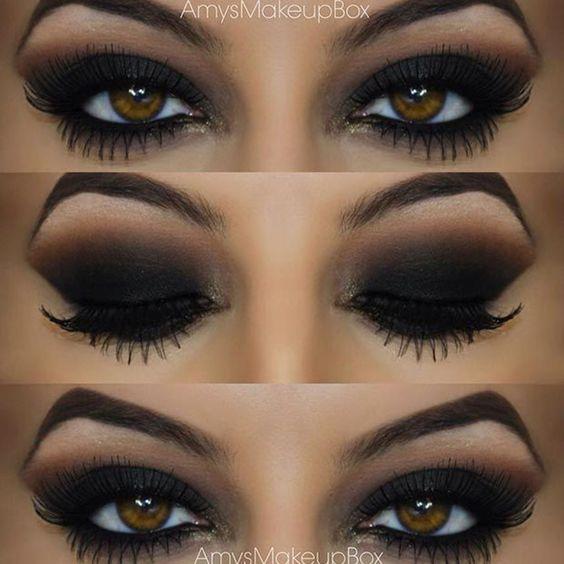 Maquiando: Olho preto esfumado - inspirações para você arrasar: