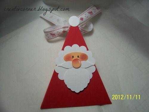 Pai Natal triângulo.