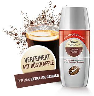 Jacobs Momente Löskaffee – Gratisproben