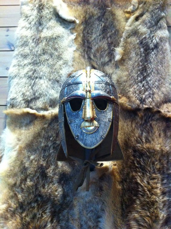 Sutton hoo replica of the kings mask