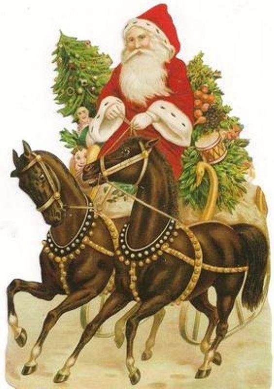 vintage style Die Cut Santa Claus Father Christmas Scrap Scrapbook projects #Scraps