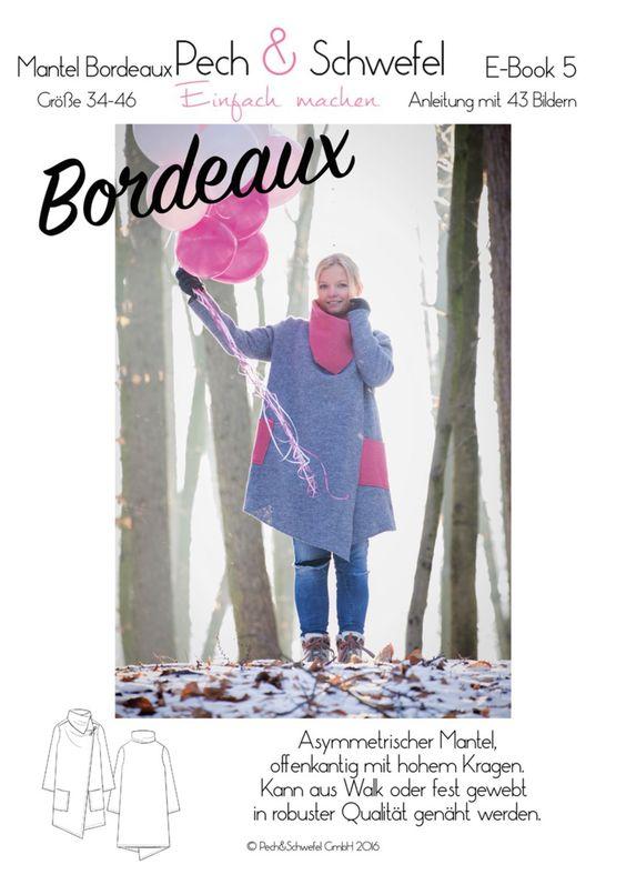 Ebook Schnittmuster Damenmantel Bordeaux 34 - 46 (A4 und A0)