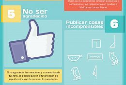 Infografía: 10 errores comunes que se cometen en social media