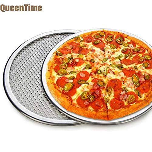 Fiesta Queentime Non Stick Pizza Pan With Holes Round Pizza Tray In Multi Size Aluminum Pizza Stones For Baking Kitchen Cooking Tools 15 Inch Pizza Stone Tray Bakes Cooking Accessories