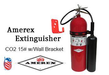 Amerex Extinguisher Co2 15 W Wall Bracket Carbon