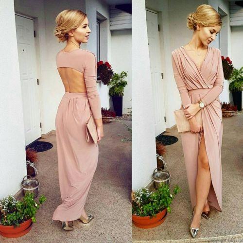 Sukienka Maxi Odkryte Plecy Hanah Pudrowy Roz Elegant Fashion Inspirational Celebrities Special Occasion Outfits