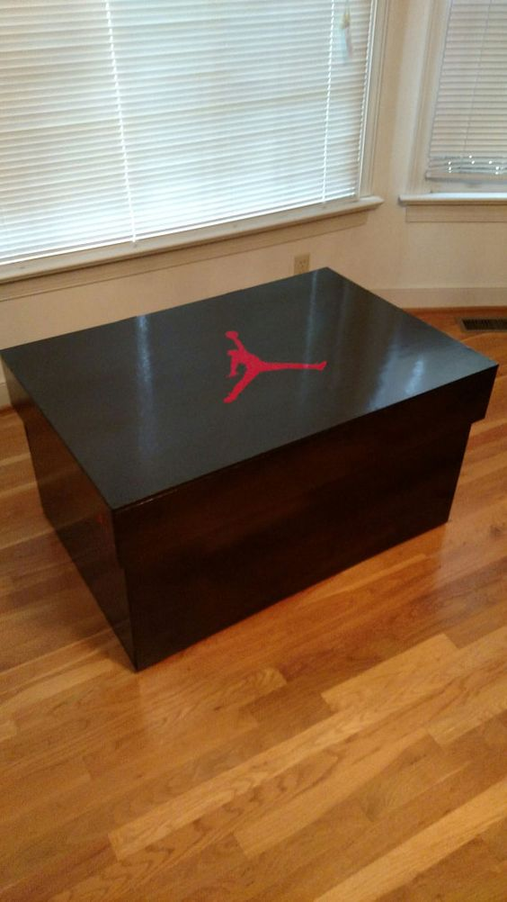 Too many shoes, not enough space? This unique 40x27x21 box can hold up to 16 pairs of size 12 shoes. Any size can be accommodated, but keep in mind a
