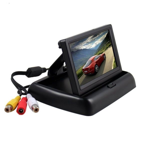"Car HD Screen 4.3"" Foldable Color LCD Monitor Car Reverse SUV Rearview Parking System Rear view Camera"