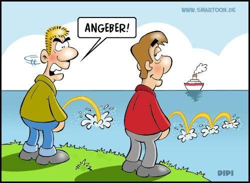 Ein Angeber ;) | Cartoons | Pinterest | Deutsche Witze, Comics Und Witzig