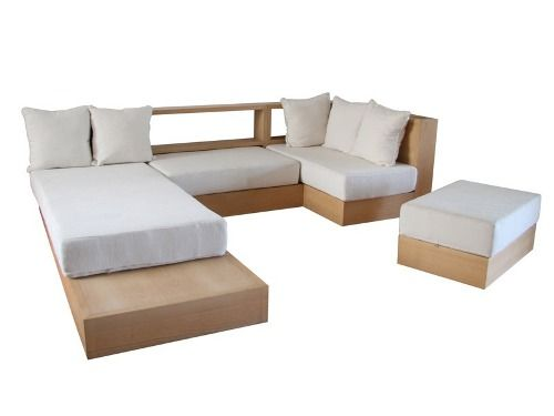 Sillones minimalista madera macisa juego living chair for Juego de sillones para living