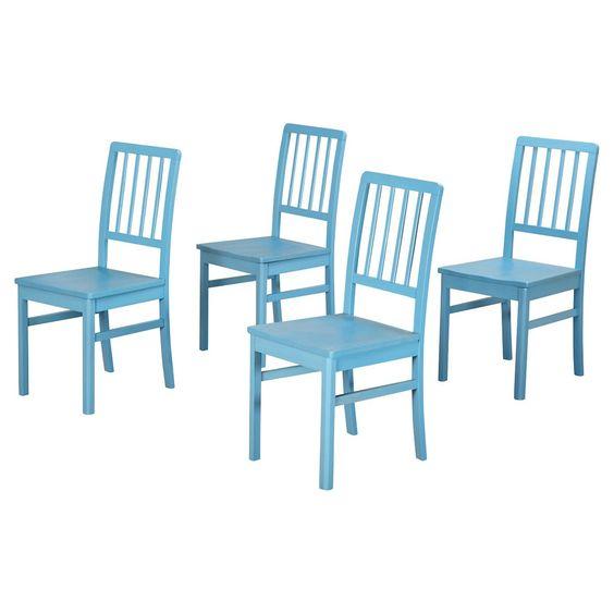 Camden Wood Slatback Dining Chair - Set of 4