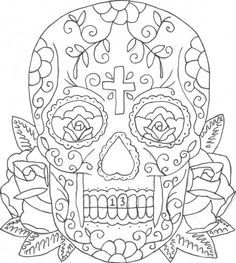 sugar skull tattoo coloring pages simonschoolblogcom - Sugar Skull Tattoo Coloring Pages