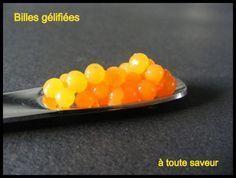 Perles de vinaigre de mangue Voici une technique pour réaliser des sphères à placer au fond d'un verre ou sur une verrine, dans une salade etc…. vous pouvez utiliser des sirops, des vinaigres, des coulis de fruits la technique est la même. Vous obtiendrez...