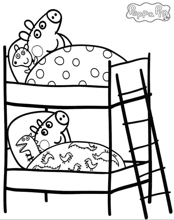 Coloring pages Pigs and Coloring on Pinterest
