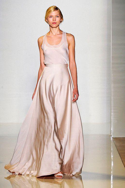 Perfectly romantic in palest blush pink Valentin Yudashkin rtw ss 2012