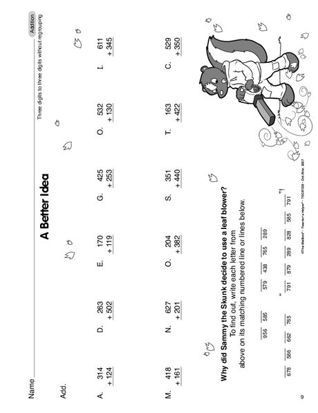 Math Worksheet: 3-digit addition without regrouping | Worksheets ...