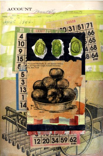 Farmers Market,  Mixed Media Collage by  Gwen Gibson: