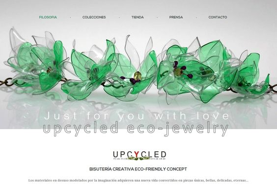 Nueva web. Upcycled eco-jewelry www.upcycled.es