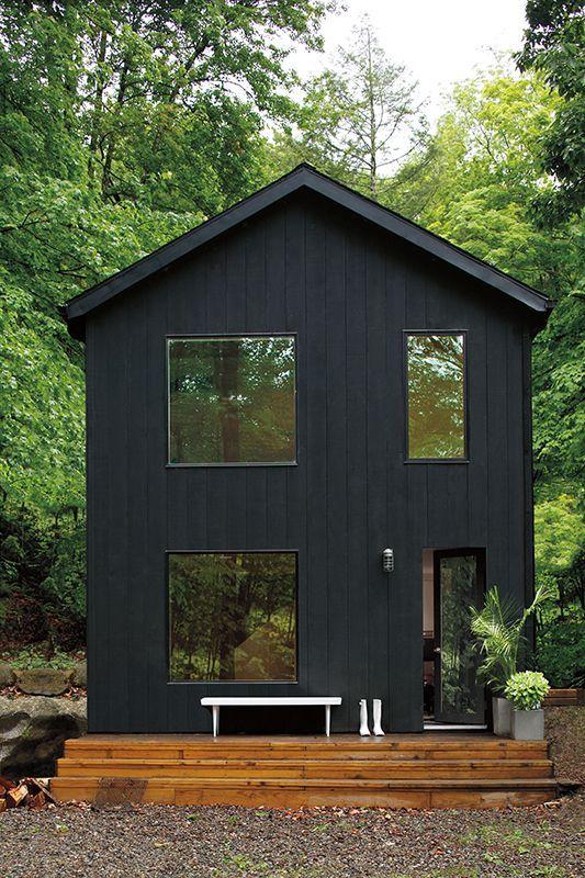 Gris Charbon Black House Exterior Exterior House Colors